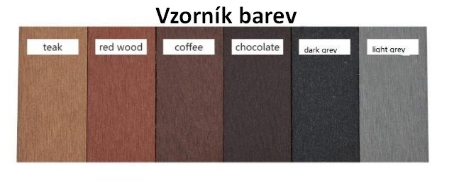 Terasové prkno WPC Antracit (Dark Grey)